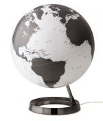Design-Leuchtglobus Atmosphere Light and Colour white / Charcoal base 30cm Globus modern Globe Earth