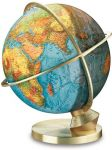 223472 COLUMBUS Antik Royal Globus Planet Erde Hightech Tag/Nacht 34cm Messinghaube Globe 223472