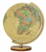 223453 Tischglobus Columbus Royal 34 cm Leuchtglobus Antik Globus Globe 223453 Earth Messing / Buche handkaschiert